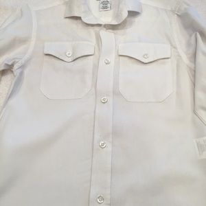 Izod boys Small white long sleeved button shirt